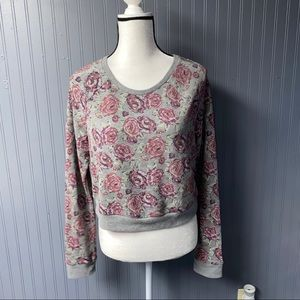 Women's Abercrombie crop sweater tee large